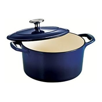 Tramontina Enameled Cast Iron Covered Round Dutch Oven, 3.5-Quart, Gradated Cobalt