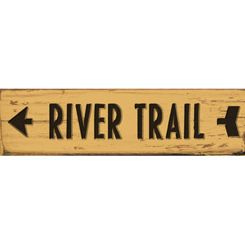 Personalized Trail Left Arrow Wood Sign