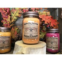 Apples N' Pumpkin Natural Hand Poured Soy Candles