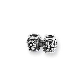Sterling Silver Floral Connector Bead Charm