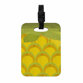 "Kathleen Kelly ""Pineapple"" Digital Food Decorative Luggage Tag"