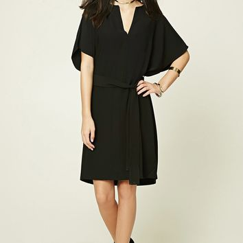 Belted Dolman Shift Dress