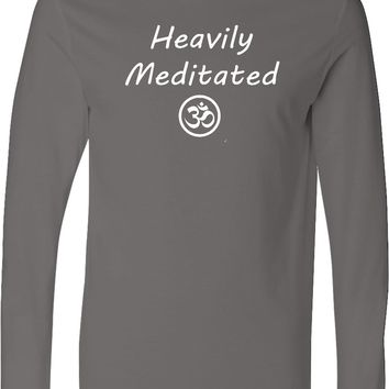 Yoga T-shirt Heavily Meditated with Om Lightweight Hoodie