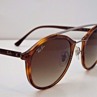 Authentic Ray-Ban RB 4266 6201/13 LightRay Tortoise Brown Gradnt Sunglasses $265