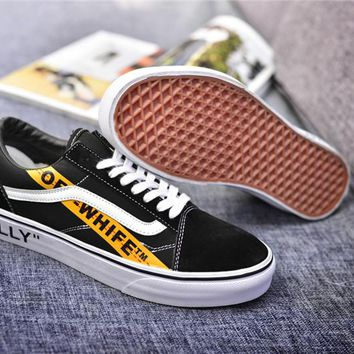 "OFF-WHITE x Vans Old Skool ""Willy"" Skateboarding Shoe size:36-44"