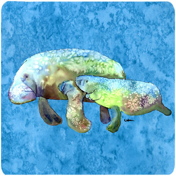 Set of 4 Manatee Foam Coasters