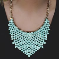 Modern Armor Necklace - Mint