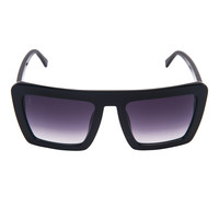 Benson - All Day - Black Oversized Square with Smoke Gradient Lens
