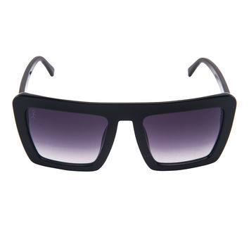 Benson - All Day - Black Oversized Square Wayfarer with Smoke Gradient Lens