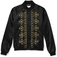Saint Laurent - Embroidered Satin Jacket | MR PORTER