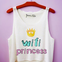 WIFI Princess Crop Tank Top