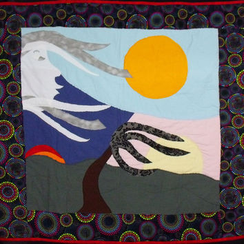 "Applique Wall Art Quilt Original Design ""All is Vanity"""
