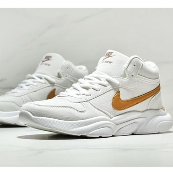 NIKE Couple models wear-resistant cushioning non-slip casual shoes running shoes White