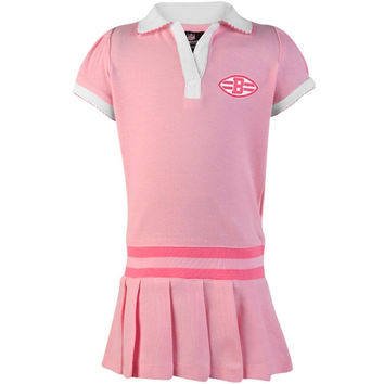 Cleveland Browns Preschool Polo Dress with Striped Rib - Pink
