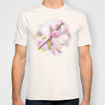 Pink sakura flowers - Japanese cherry blossom T-shirt by Digital2real