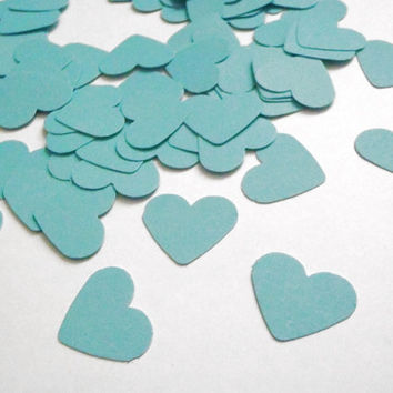 mint seafoam heart shape wedding confetti baby shower shop window paper valentine day diy beach wedding scrapbooking mermaid lasoffittadiste
