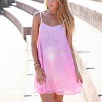 ALWAYS BE MY BOO DRESS , DRESSES, TOPS, BOTTOMS, JACKETS & JUMPERS, ACCESSORIES, 50% OFF SALE, PRE ORDER, NEW ARRIVALS, PLAYSUIT, COLOUR, GIFT VOUCHER,,Pink,Print,Purple,SHIFT,SLEEVELESS,MINI Australia, Queensland, Brisbane