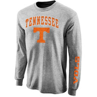Tennessee Volunteers Arch & Logo Long Sleeve T-Shirt - Gray