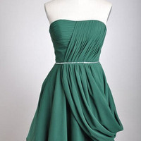High quality chiffon satin bridesmaid Prom Evening Homecoming Dress