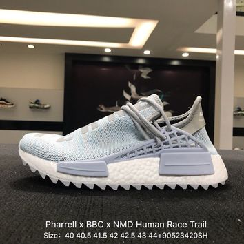 Pharrell Williams x BBC x Adidas PW HU Human Race Trail NMD Boost Sport Running Shoes Classic Casual Shoes Sneakers