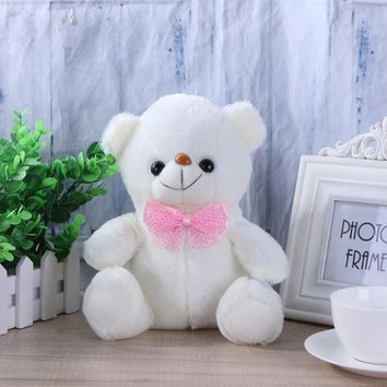 Sound Recording Bear Colorful Luminous Glow in the Dark Bear Lovely Stuffed Plush Toy Kids Christmas Gift Baby Sleeping Doll Toy