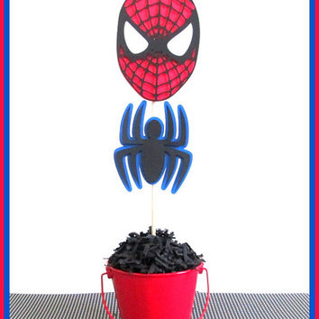 Spiderman Party Decorations | Spiderman Centerpieces