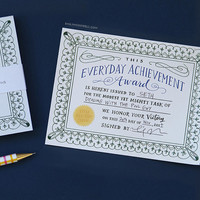 Everyday Achievement Certificates: A Notepad of Awards, Funny Notepad, Award Certificates by Emily McDowell