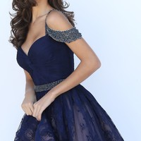 Sherri Hill Sweetheart Cold Shoulder Homecoming Dress