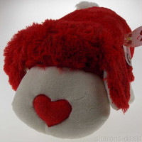 "Pillow Pets Luv Pup As Seen On TV 18"" Soft Stuffed Animal Toy Red White Puppy"
