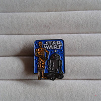 Vintage Disney Lucasfilm LFL Star Wars Droids C-3PO & R2-D2 Older Mini Pin - 1993