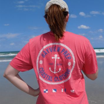 Anchor Shirt in Snapper Red