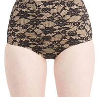 ModCloth Luxe High Waist Luxe and Listen Swimsuit Bottom