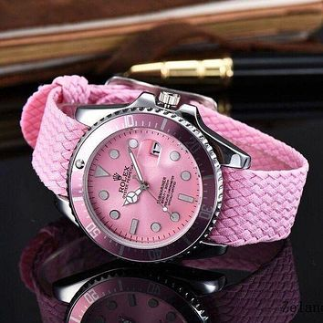 DCCKN6V Rolex Women Trending Fashion Braided Quartz Movement Watch G