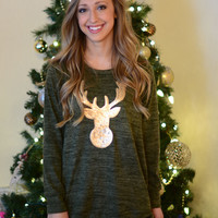 Jingle Bell Rock Sweater- Olive