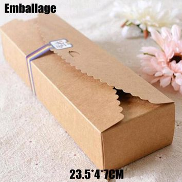 Accept Cardboard Macaron Packaging Caixa Kraft Paper Boxes Jewelry 100pcs/.**
