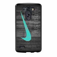 Nike Mint Just Do It Wooden LG G3 Case