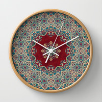 Nada Brahma Wall Clock by Elias Zacarias