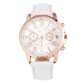 FUNIQUE Fashion Minimalist Watches Women PU Leather Ladies Dress Gold Quartz Watch 2017 Hot Sale Wristwatch For Girls Clock Gift