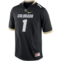 CU Book Store - Colorado Nike #1 Football Replica Jersey - Black