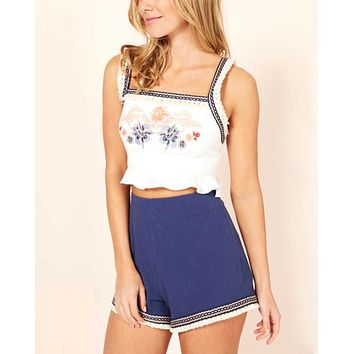 MINKPINK - women's lost & found shorts - navy