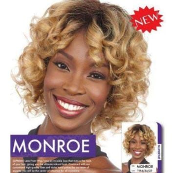 100% HUMAN HAIR LACE WIG , SHORT CURLY (MONROE)
