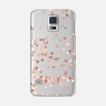 LIMITED EDITION ROSE GOLD FAUX GLITTER TRANSPARENT by Monika Strigel for iPhone 6 Galaxy S5 case by Monika Strigel | Casetify