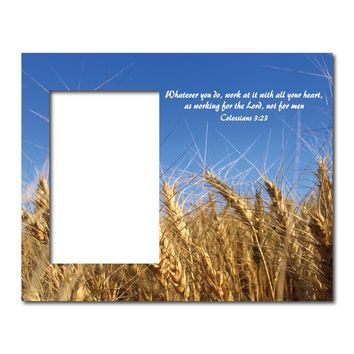 Colossians 3:23 Decorative Picture Frame - Holds 4x6 Photo