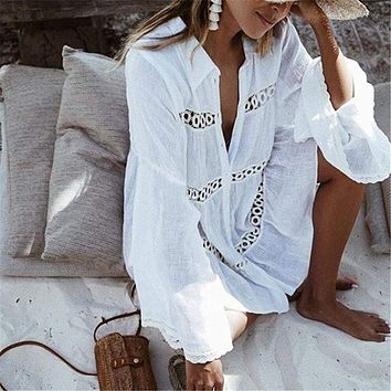 Lightweight Bikini Hollow Lace Cover Up