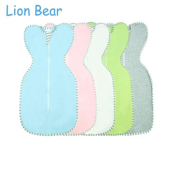 Lion Bear Cocoon Baby Sleeping Bag envelope for newborns 0-6 Month Cotton Solid color Zipper Sleepsacks Baby Bedding Accessories