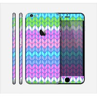 The Bright-Colored Knit Pattern Skin for the Apple iPhone 6 Plus