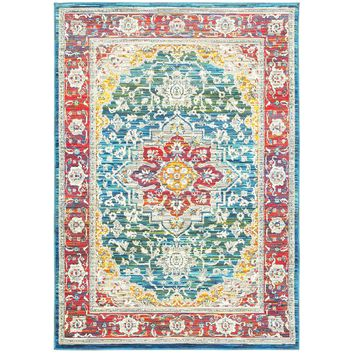 Joli Red Multi Oriental Traditional Rug