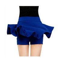 2016 Skirts For Women New Fashion High Waist Solid Ball Gown Casual Loose Mini Skirt Pant 7 Color