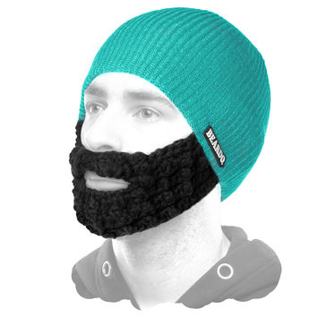 Beardo Teal (Attached Black) - DAILY DEAL