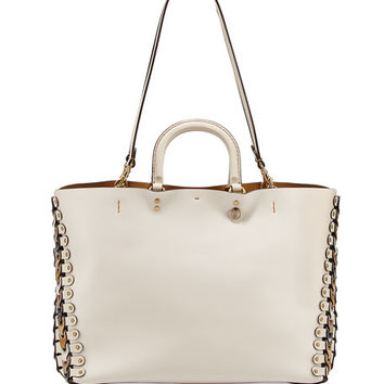 Coach 1941 Rogue Colorblock Linked Tote Bag, White